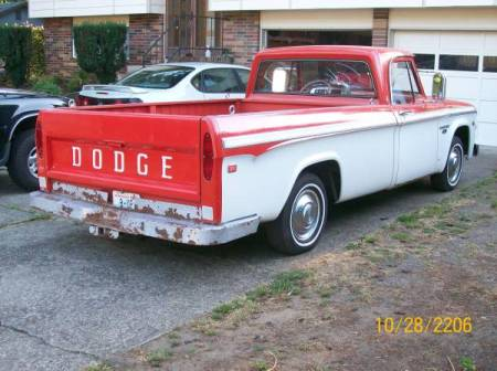 1966 Dodge D100 right rear