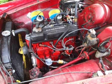1966 Volvo 122S engine