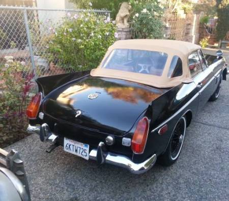 1970 MGB Special right rear