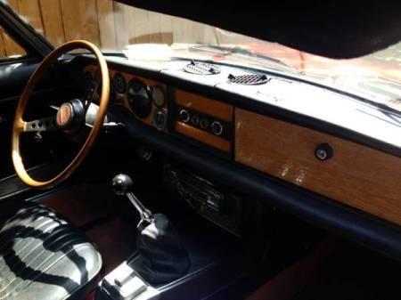 1974 Fiat 124 Spider interior