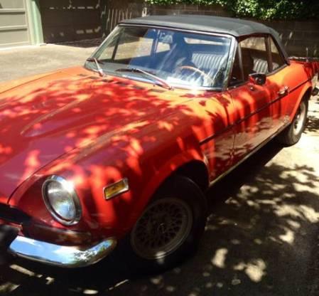1974 Fiat 124 Spider left front