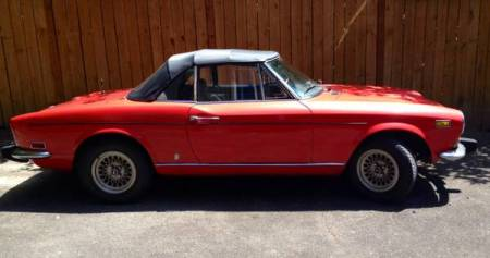 1974 Fiat 124 Spider right side