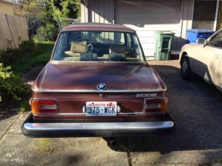 1976 BMW 2002 rear