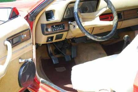 1982 Dodge Charger convertible interior
