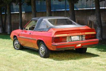 1982 Dodge Charger convertible left rear