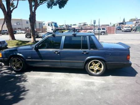 1991 Volvo 740 turbo left side
