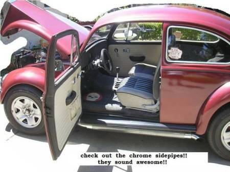 1967 VW Beetle interior