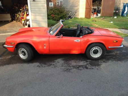 1972 Triumph Spitfire left side
