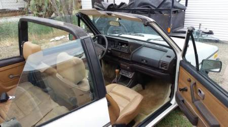 1982 VW Rabbit Convertible interior