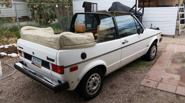 And hatchless 1982 vw rabbit convertible rusty but trusty
