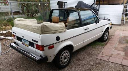 1982 VW Rabbit Convertible right rear