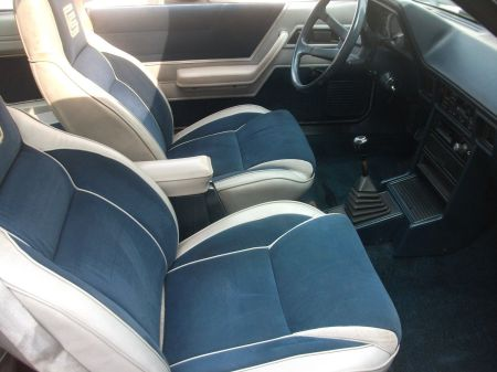 1985 Shelby Charger Turbo interior