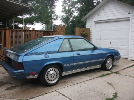 1985 Shelby Charger Turbo right rear