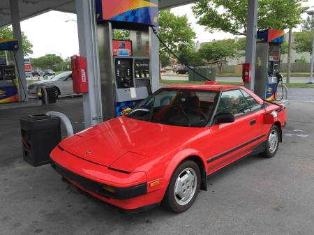 1985 Toyota MR2 followup left front