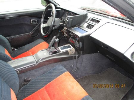 1985 Toyota MR2 interior