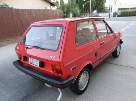 1986 Yugo GV right rear