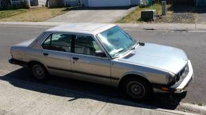 1987 BMW 528e right front