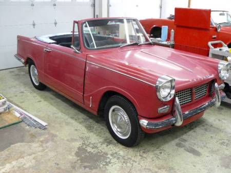 1963 Triumph Herald convertible for sale right front