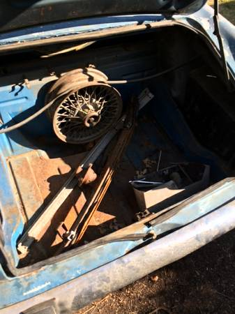 1965 Sunbeam Alpine for sale trunk