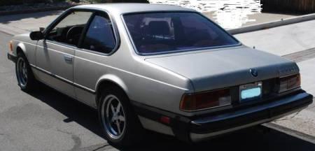1984 BMW 633CSi left rear