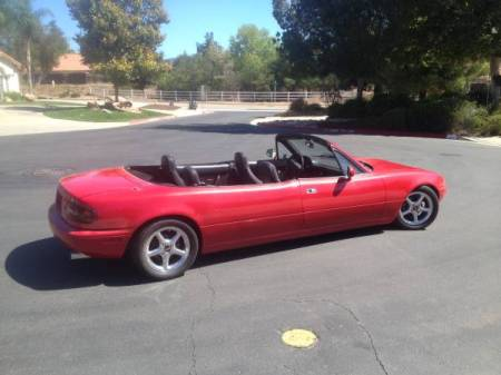 1993 Mazda Miata stretch right rear