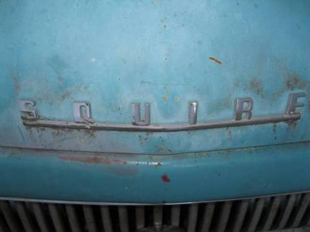 1958 Ford Prefect Squire badge