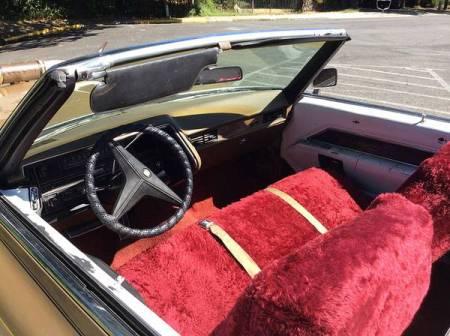 1969 Cadillac De Ville convertible interior