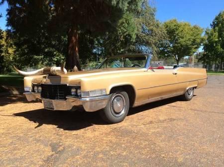 1969 Cadillac De Ville convertible left front