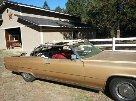 1969 Cadillac De Ville convertible top