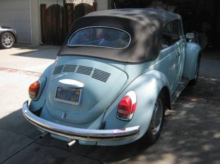 1972 VW Beetle convertible right rear
