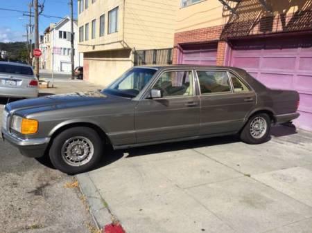 1983 Mercedes 500 SEL left front