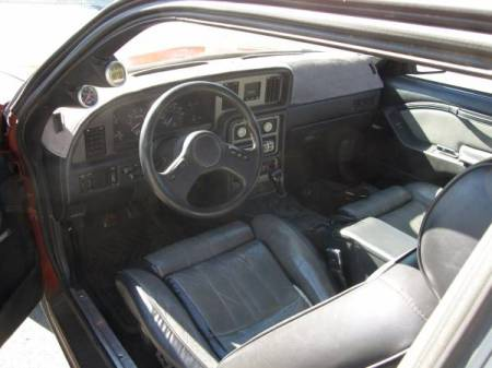 1986 Ford Thunderbird Turbo interior