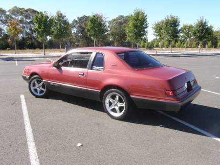 1986 Ford Thunderbird Turbo left rear