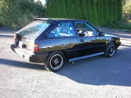 1986 Mitsubishi Mirage Turbo right rear