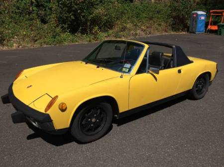 1974 Porsche 914 yellow left front