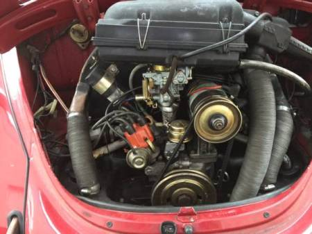 1971 VW Beetle Mexico engine