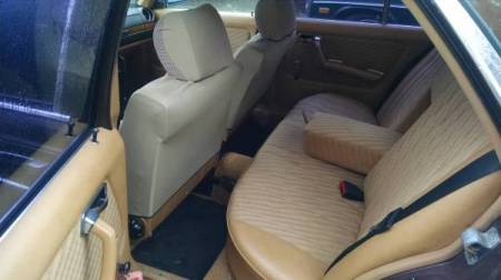 1979 Mercedes 280E rear interior