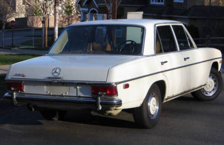 1969 Mercedes 230 right rear