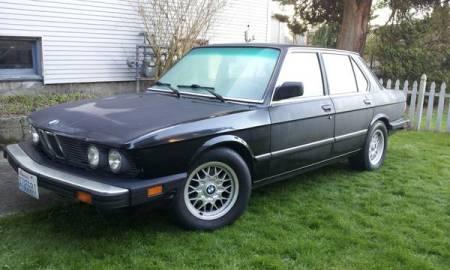 1987 BMW 535i left front