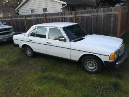 1977 Mercedes 230 right front