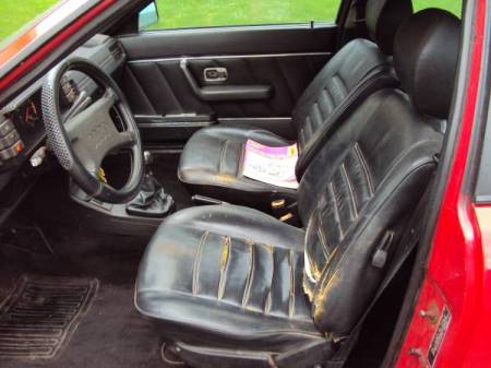 1984 Audi GT Coupe interior