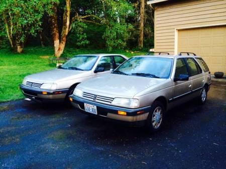 1990 Peugeot 405 left front