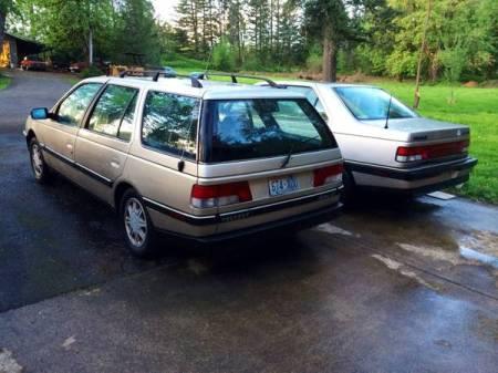 1990 Peugeot 405 left rear