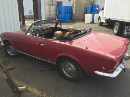 1968 Fiat 124 Spider left rear