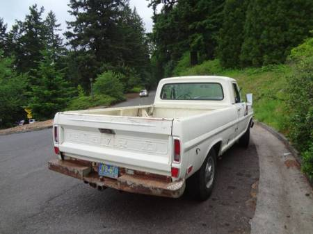 1969 Ford F250 right rear