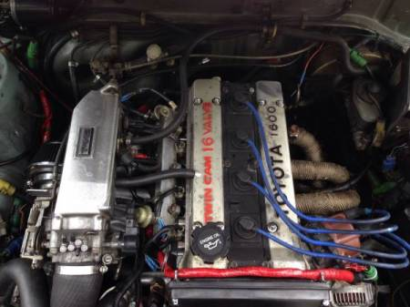 1986 Toyota Tercel Wagon 4AGE engine