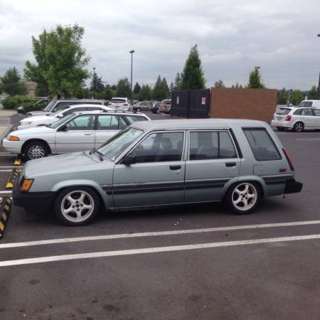 1986 Toyota Tercel Wagon 4AGE left front