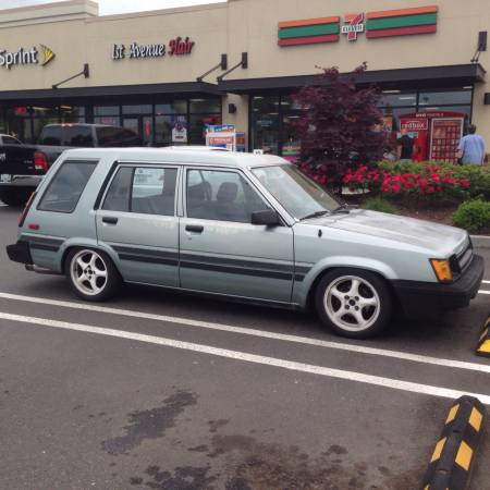 1986 Toyota Tercel Wagon 4AGE right front