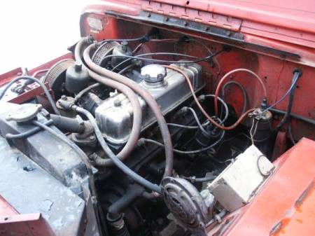 1964 Jeep DJ3 Volvo engine engine