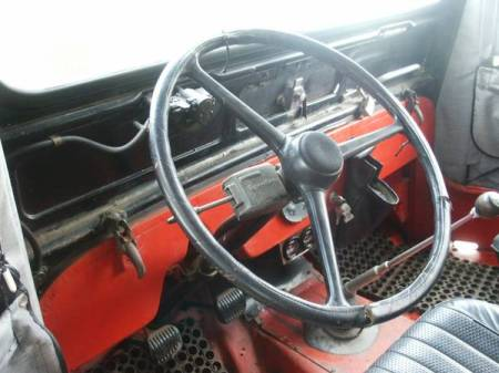 1964 Jeep DJ3 Volvo engine interior